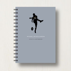 Personalised Rugby Lover's Journal Or Notebook - personalised