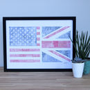 Union Jack And USA Flag Mash Up