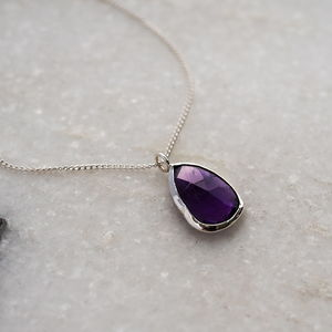 Amethyst Pendant - necklaces & pendants