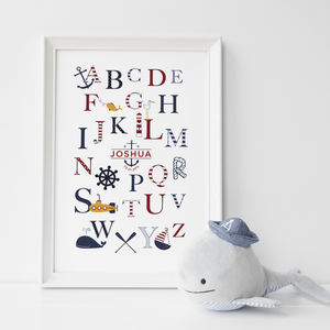 Personalised Nautical Alphabet Print