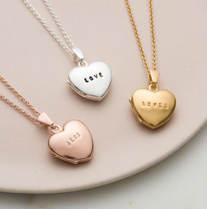 Personalised Mini Heart Locket - gifts for her
