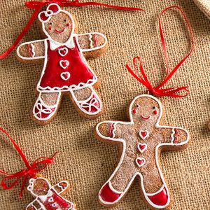 set of gingerbread man christmas tree decorations by the christmas home notonthehighstreetcom