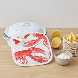 Lobster Pot Holder - oven gloves & mitts