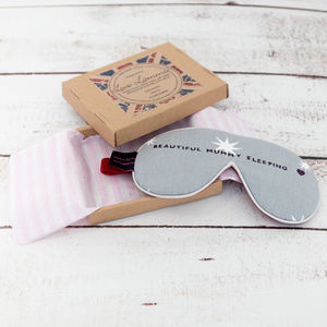 Personalised Star Print Eye Mask With Lavender