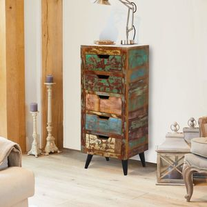 Dunes Five Drawer Tallboy Chest Of Drawers