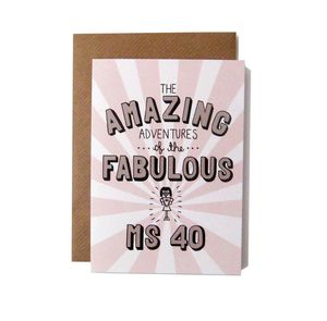 'Amazing Adventures Of The Fabulous Ms 40' Card