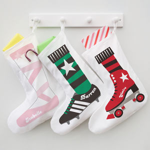 Which Shoe Are You? Personalised Christmas Stocking - stockings & sacks