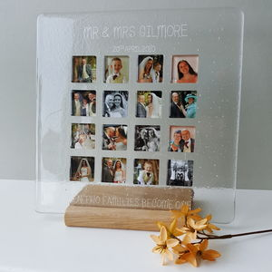 Personalised Wedding Large Photograph Display Frame