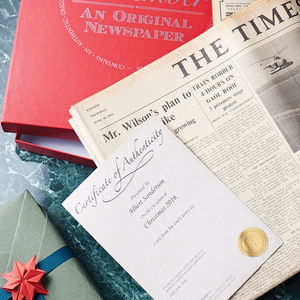 Personalised Original Newspaper With Gift Box - gifts for her