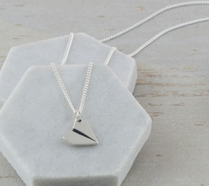 Sterling Silver Paper Aeroplane Necklace