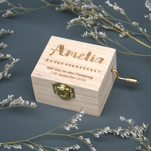Personalised Christening Music Box - more