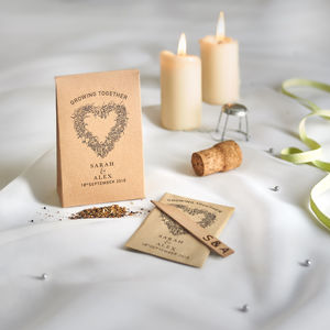 Personalised 'Growing Together' Seed Favours - wedding favours
