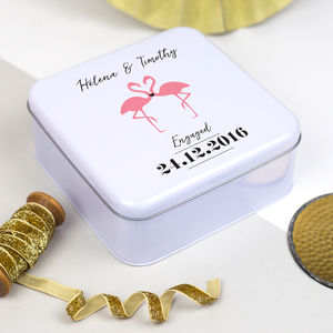 Personalised Couple's Flamingo Tin - tins