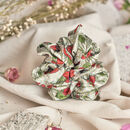 Silk Scrunchie 'Strawberry Garden'
