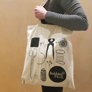 Upholstery And Sewing Illustration Tote