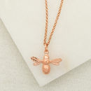 Rose Gold Bee Necklace by Lily Charmed