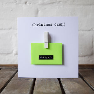 Personalised Mini Envelope Money Cash Gift Card - birthday cards