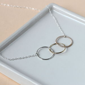 Ombre Linked Circle Necklace - necklaces & pendants