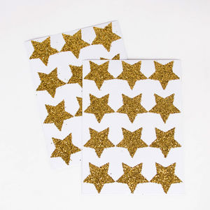 Chunky Glitter Star Stickers