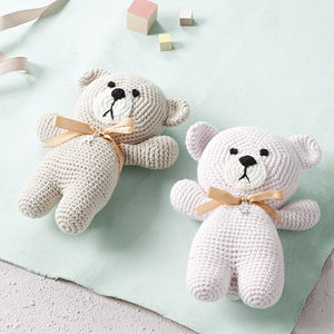 Hand Crafted Baby First Teddy Bear - new baby gifts