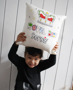 Personalised 'Royal Baby' Cushion Cover
