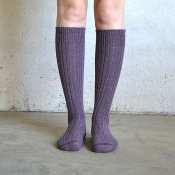 Knee Length Alpaca Boot Socks
