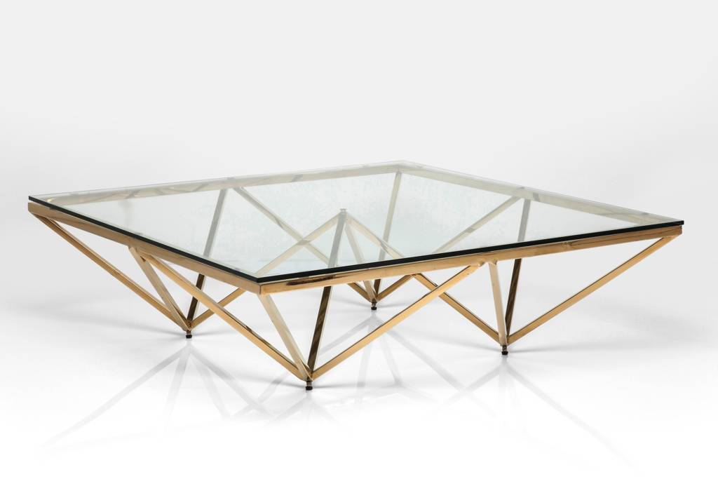 art deco brass square glass coffee table by i love retro notonthehighstreet com