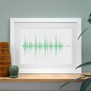 Norwich, Football Song, Stadium Soundwave Print