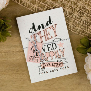 Happy Graphic Wedding Invitation - wedding stationery