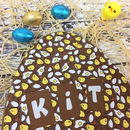 Large Personalised Milk Chocolate Splat Easter Egg