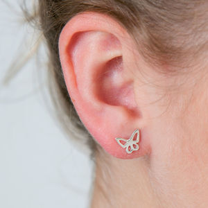 Butterfly Sterling Silver Studs