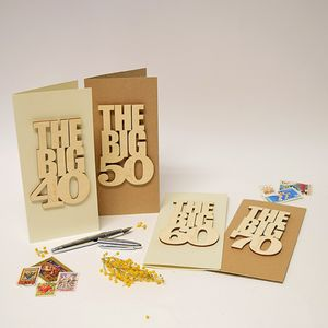 Personalised 'The Big 60' Birthday Card