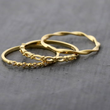 Gold Plated Sterling Silver Stacking Ring