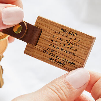 Personalised 'The Day You Became My…' Key Ring