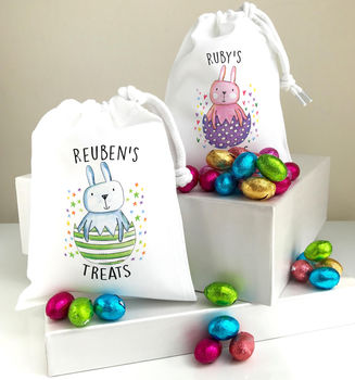 Personalised Gift Bag With Chocolate Treats