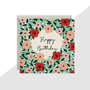 'Happy Birthday' Flowers Mini Card - cards & invitations