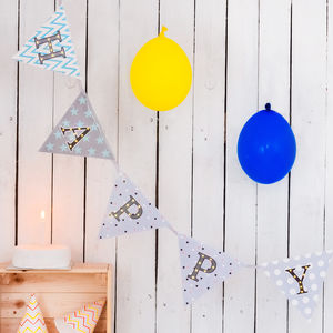 Happy Birthday Light Up Bunting - summer sale