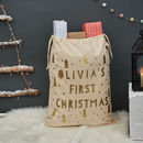 Personalised First Christmas Tree Sack