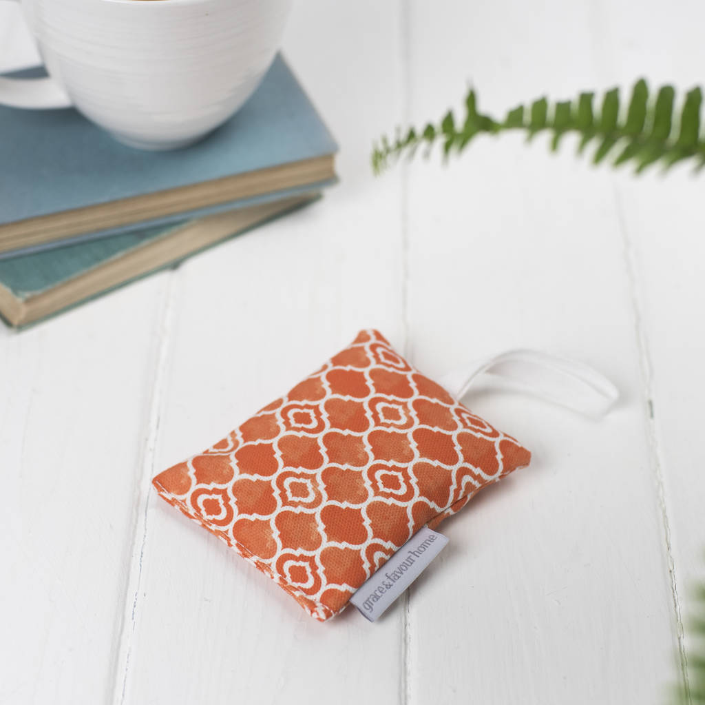 Alta Lavender Bag, Geometric Orange Design
