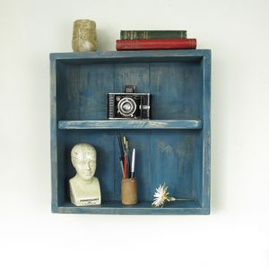 Wall Mounted Box Shelf - living room