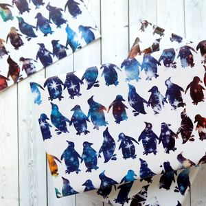 Celestial Penguin Wrapping Paper