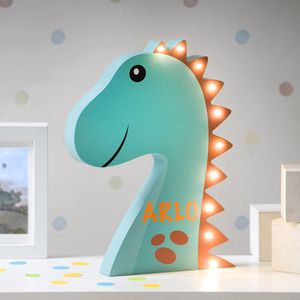 Personalised LED Dinosaur Light - table lamps