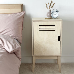 Locker Style Plywood Bedside