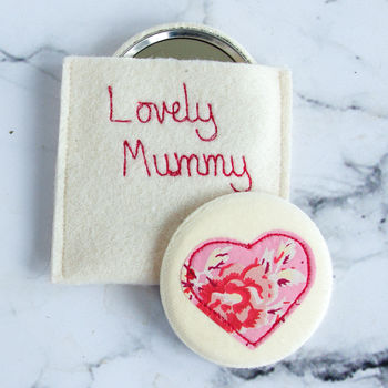 Personalised Wedding Favour Compact Mirror
