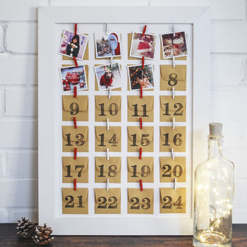 Personalised Photo Framed Advent Calendar