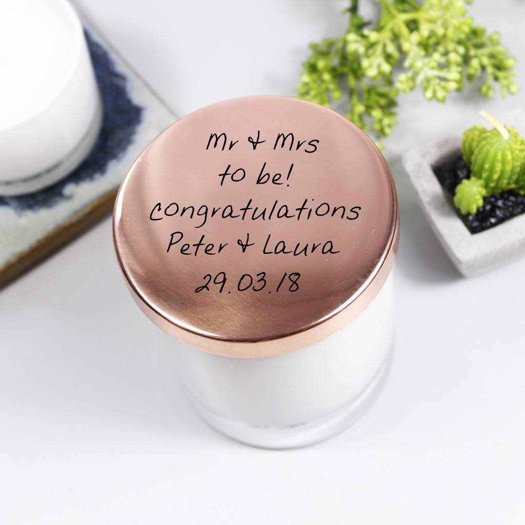 engagement scented candle with lid gift by olivia morgan ltd ...