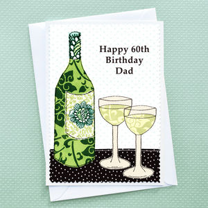 'Wine' Personalised Birthday Card