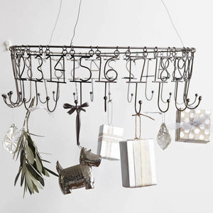 Hand Finished Nickel Hanging Advent Calender