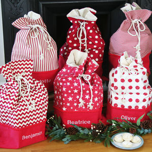 Luxury Personalised Christmas Santa Sack - stockings & sacks