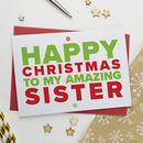 Christmas Card For Amazing Sister